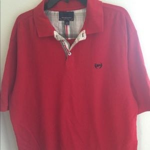 XL red PHAT FARM polo shirt.